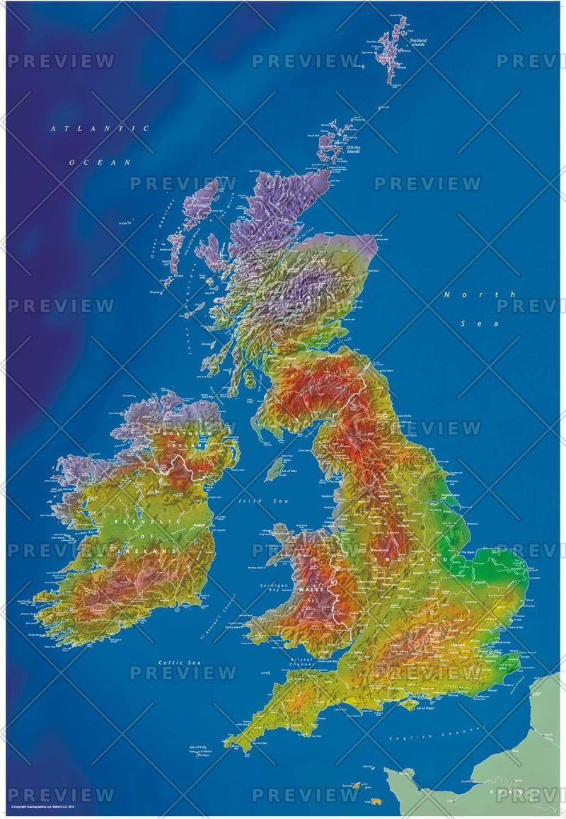 Artistic British Isles Map