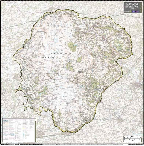 Dartmoor National Park Wall Map