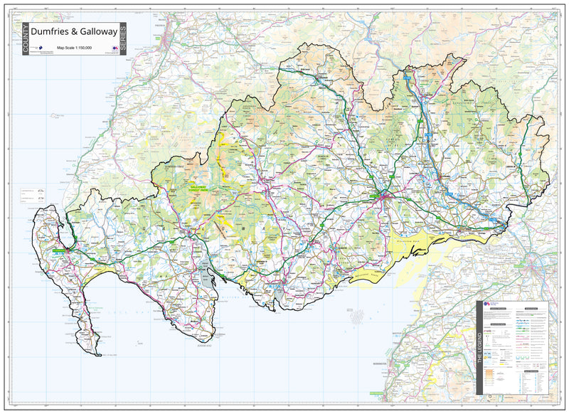 Dumfries and Galloway County Wall Map