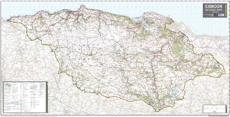 Exmoor National Park Wall Map (113 x 60cm)