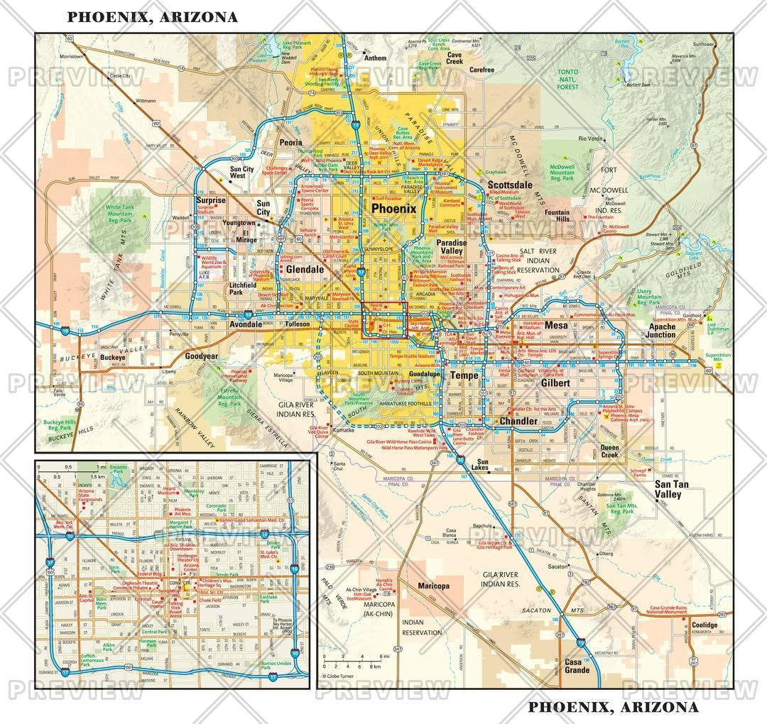 Phoenix, Arizona Wall Map on northeast phoenix map, heard museum phoenix map, old town scottsdale hotel map, westgate phoenix map, phoenix convention center map, central phoenix map, flagstaff phoenix map, printable phoenix street map, phoenix metro map, phoenix freeway map, biltmore phoenix map, scottsdale city street map, uptown phoenix map, phoenix area street map, glendale map, phoenix city map, phoenix airport map, phoenix municipal stadium map, phoenix az map, sierra vista az area map,