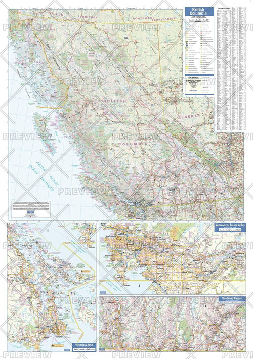 British Columbia Wall Map - small