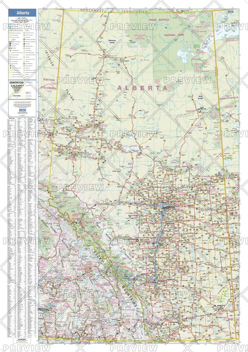 Alberta Wall Map - small