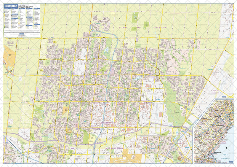 Brampton Wall Map - large