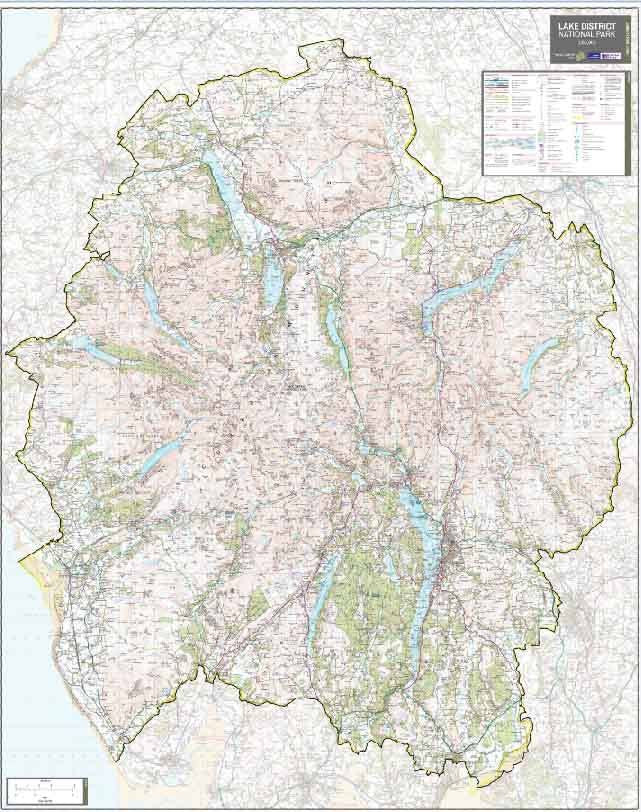 Lake District National Park Wall Map