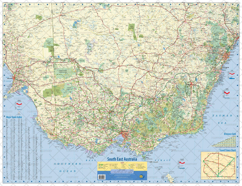 South East Australia Wall Map