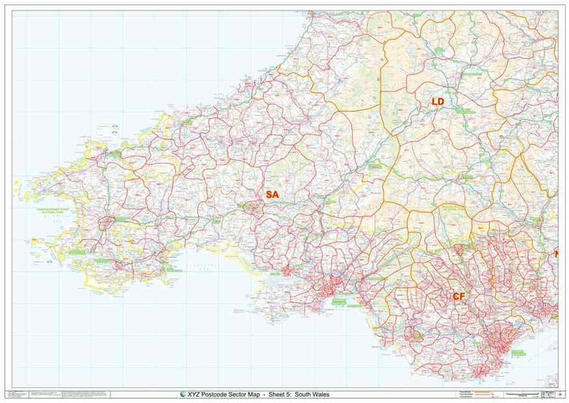South Wales Postcode Map PDF or GIF Download