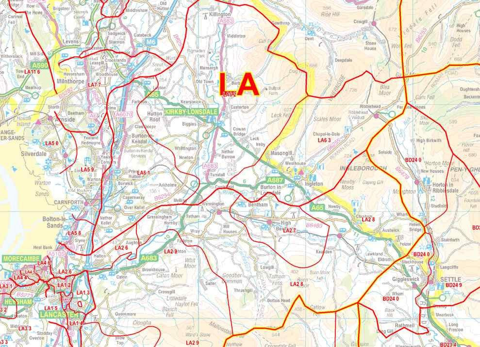 North West England Postcode Sector Map S12 Map Logic
