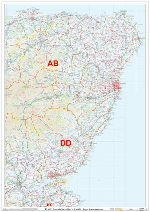 Aberdeenshire Postcode Map PDF or GIF Download