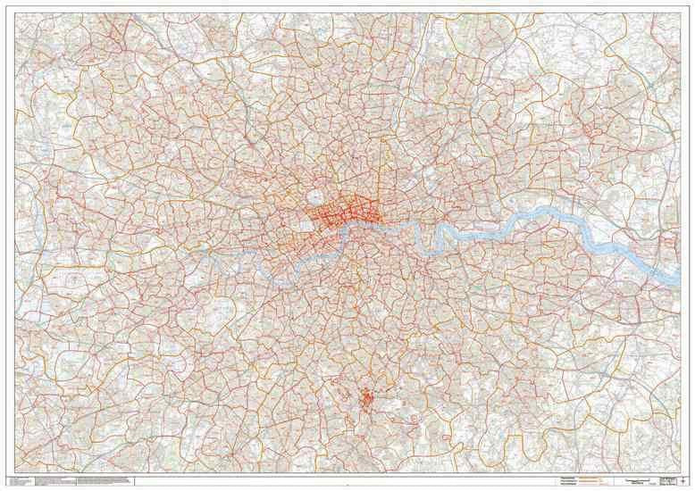London (Greater) Postcode Sector Map PDF or GIF Download