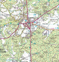 Close up of the New Forest National Park Wall Map