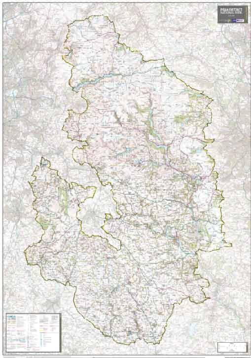 The Peak District National Park Wall Map