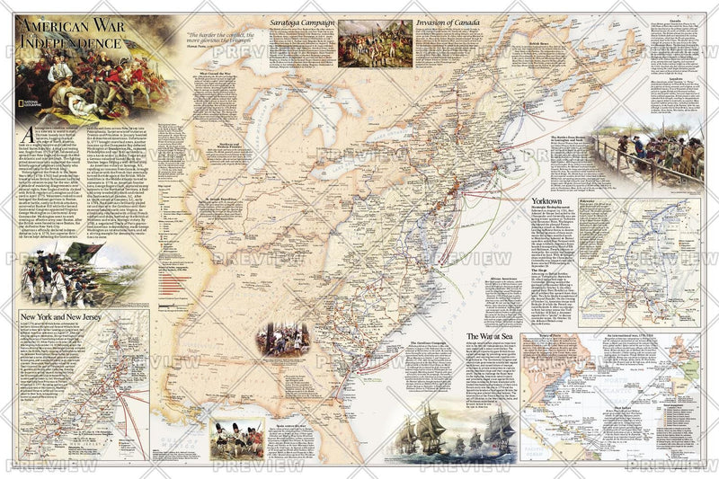 Battles of the Revolutionary War and War of 1812: Side 1