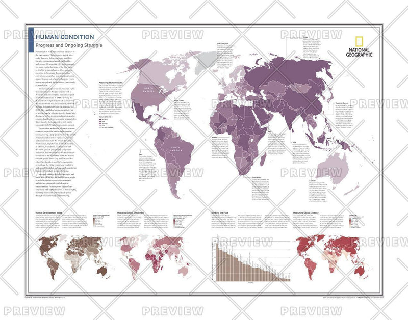 Human Condition: Progress and Ongoing Struggle - Atlas of the World, 10th Edition