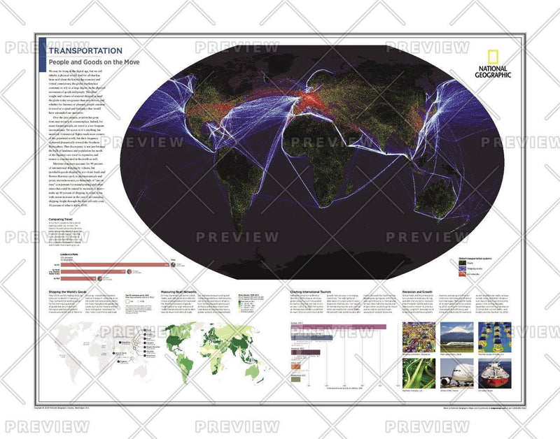 Transportation: People and Goods on the Move - Atlas of the World, 10th Edition