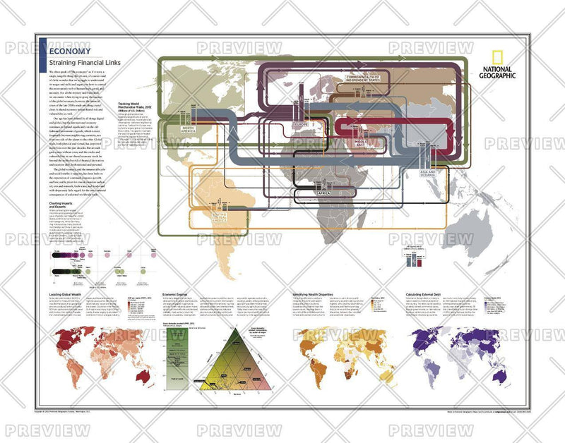 Economy: Straining Financial Links - Atlas of the World, 10th Edition