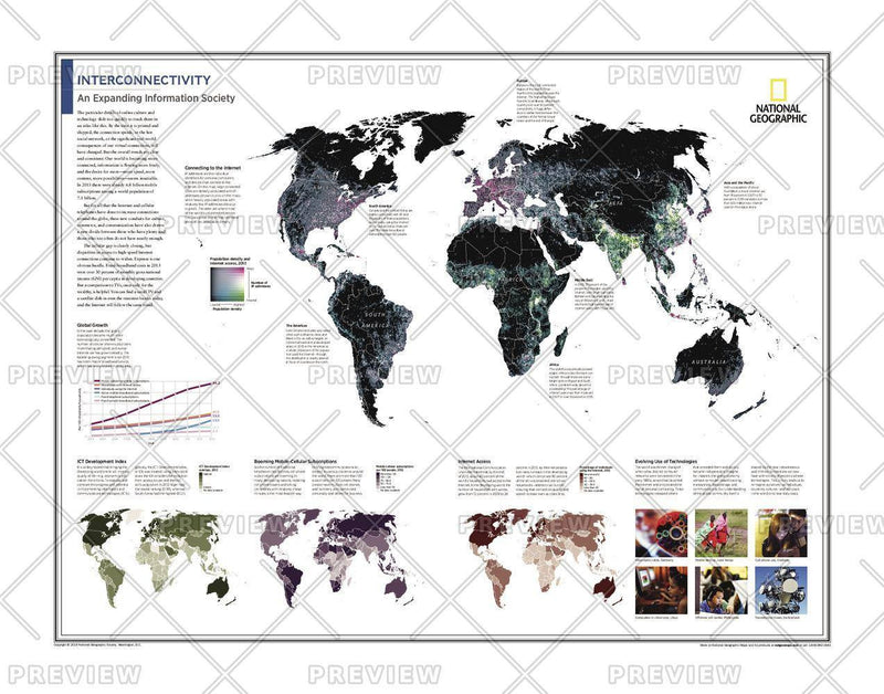 Interconnectivity: An Expanding Information Society - Atlas of the World, 10th Edition