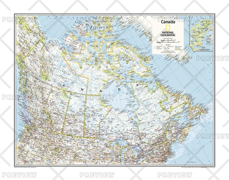 Canada Political - Atlas of the World, 10th Edition