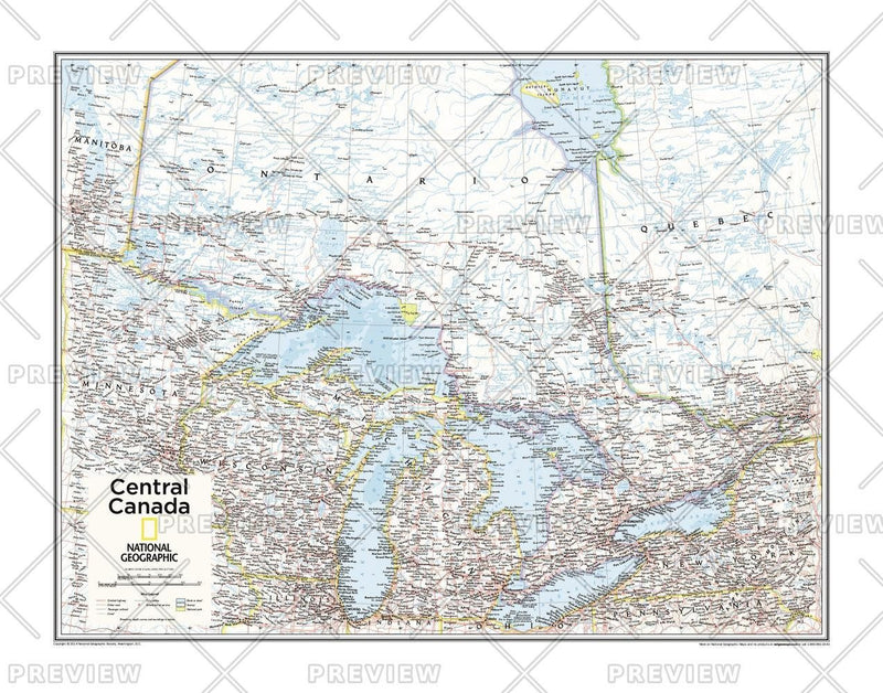 Central Canada - Atlas of the World, 10th Edition