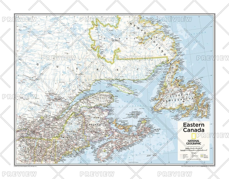 Eastern Canada - Atlas of the World, 10th Edition
