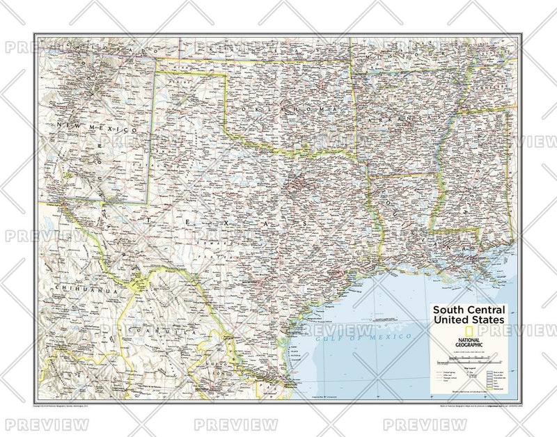 South Central U.S. - Atlas of the World, 10th Edition