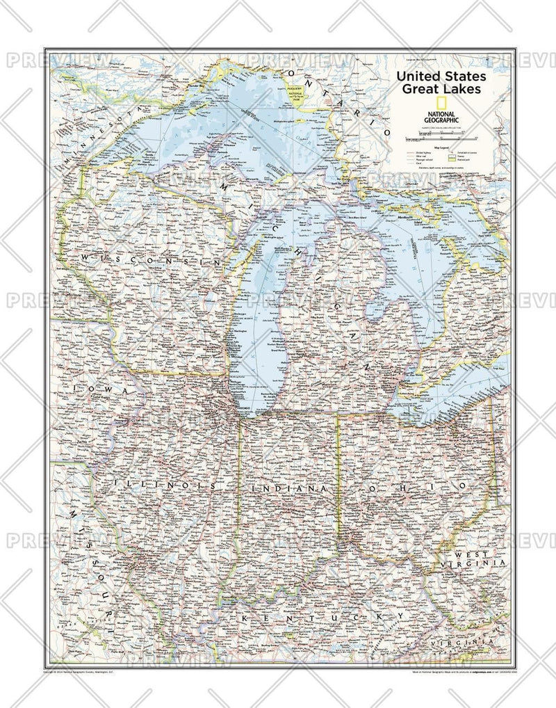Great Lakes U.S. - Atlas of the World, 10th Edition
