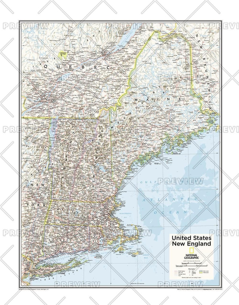 New England U.S. - Atlas of the World, 10th Edition