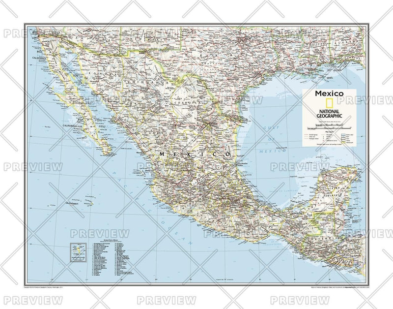 Mexico - Atlas of the World, 10th Edition