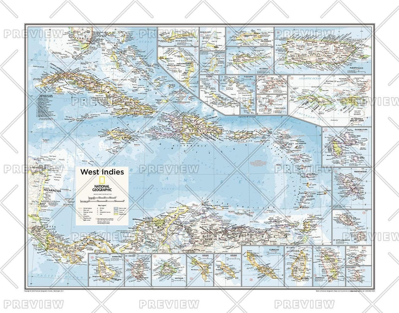 West Indies - Atlas of the World, 10th Edition