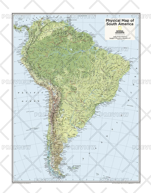South America Physical - Atlas of the World, 10th Edition