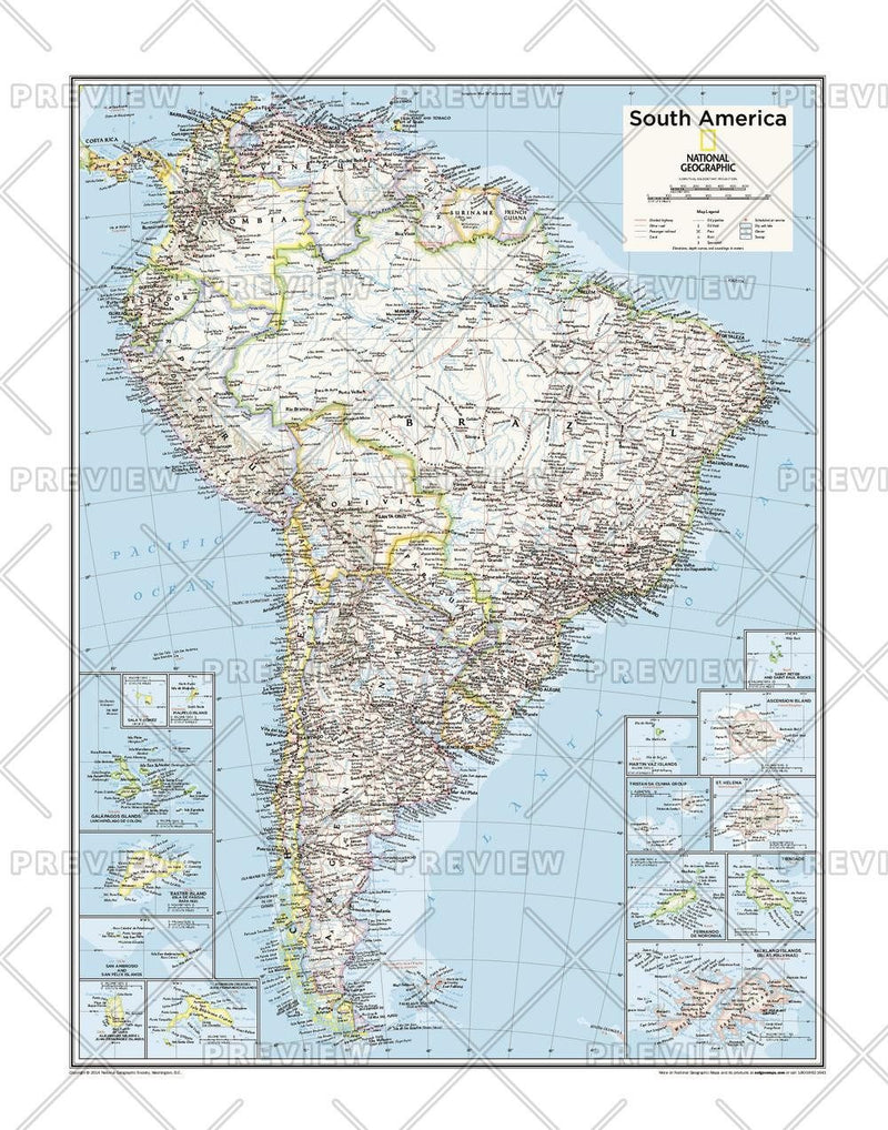 South America Political - Atlas of the World, 10th Edition