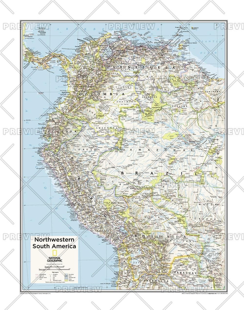 Northwestern South America - Atlas of the World, 10th Edition