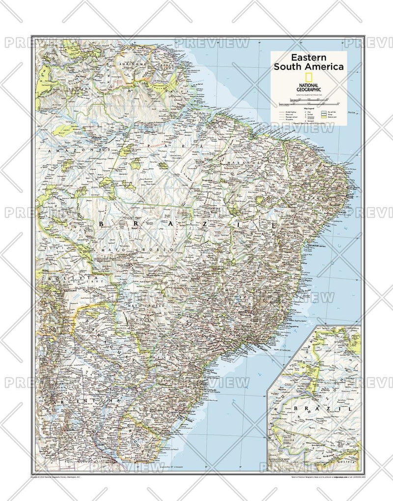 Eastern South America - Atlas of the World, 10th Edition