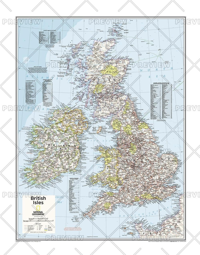 British Isles - Atlas of the World, 10th Edition