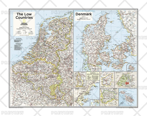 The Low Countries, Denmark, and Europe's Smallest Countries - Atlas of the World, 10th Edition