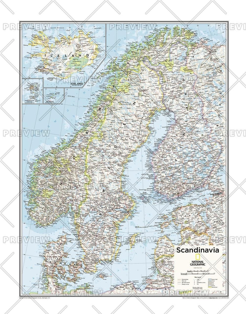 Scandinavia - Atlas of the World, 10th Edition