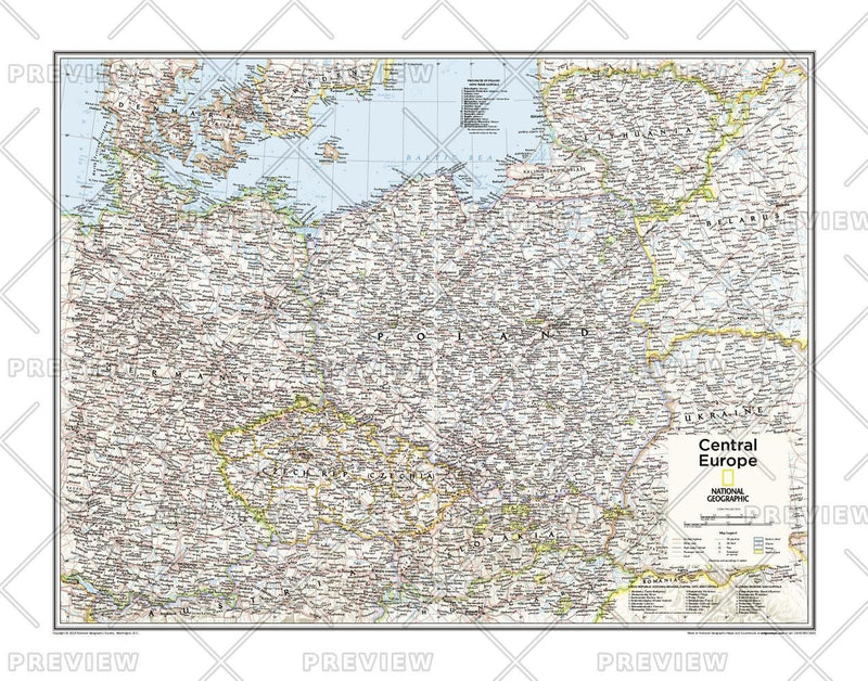 Central Europe - Atlas of the World, 10th Edition