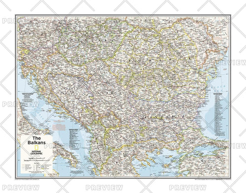 The Balkans - Atlas of the World, 10th Edition