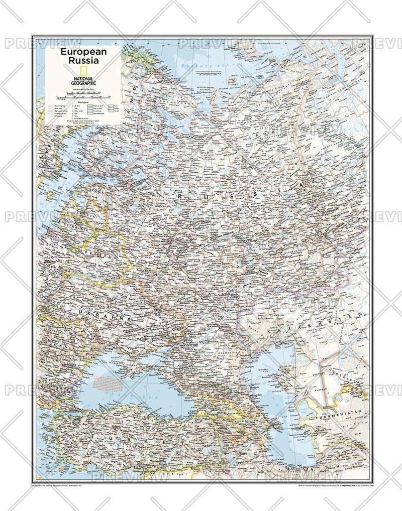 European Russia - Atlas of the World, 10th Edition