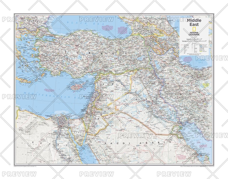 Middle East - Atlas of the World, 10th Edition
