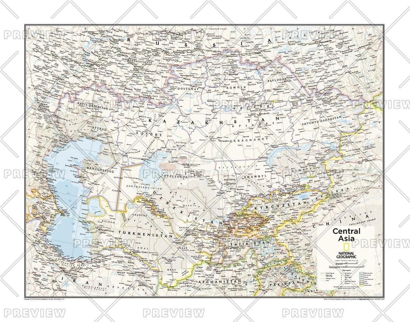 Central Asia - Atlas of the World, 10th Edition