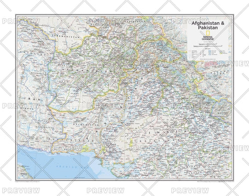 Afghanistan & Pakistan - Atlas of the World, 10th Edition