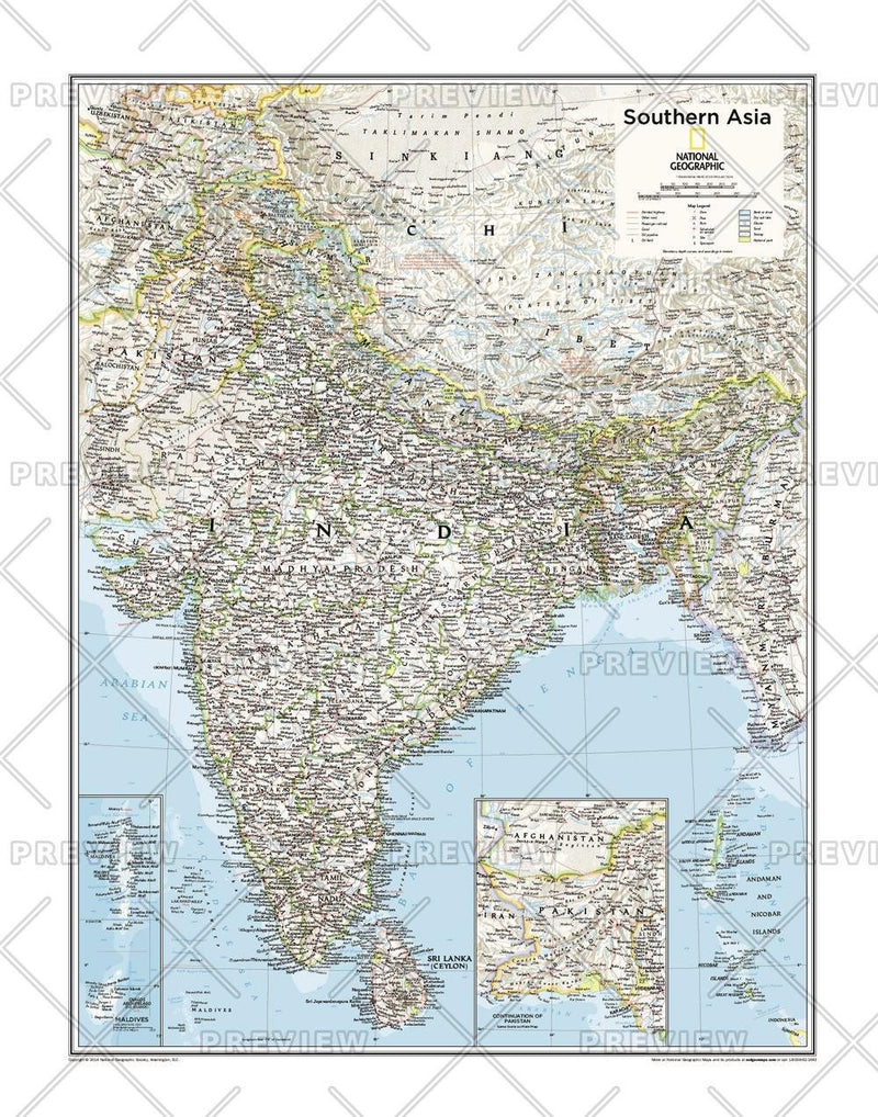 Southern Asia - Atlas of the World, 10th Edition