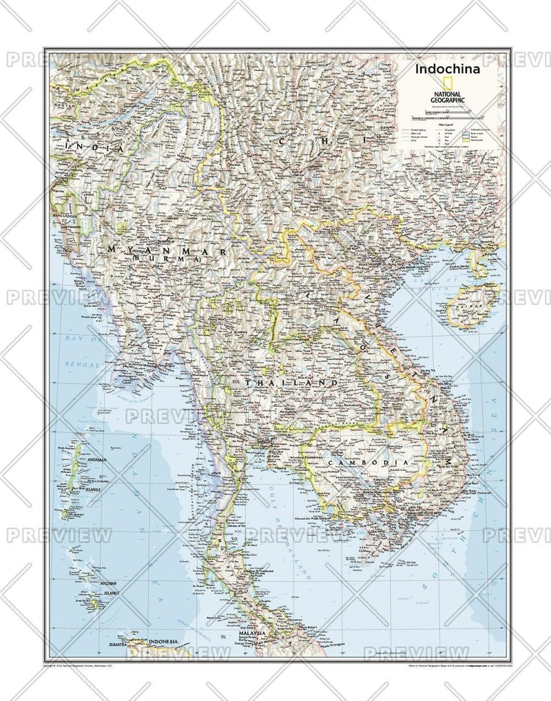 Indochina - Atlas of the World, 10th Edition