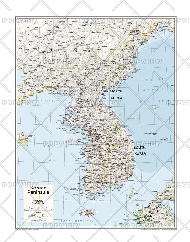 Korean Peninsula - Atlas of the World, 10th Edition