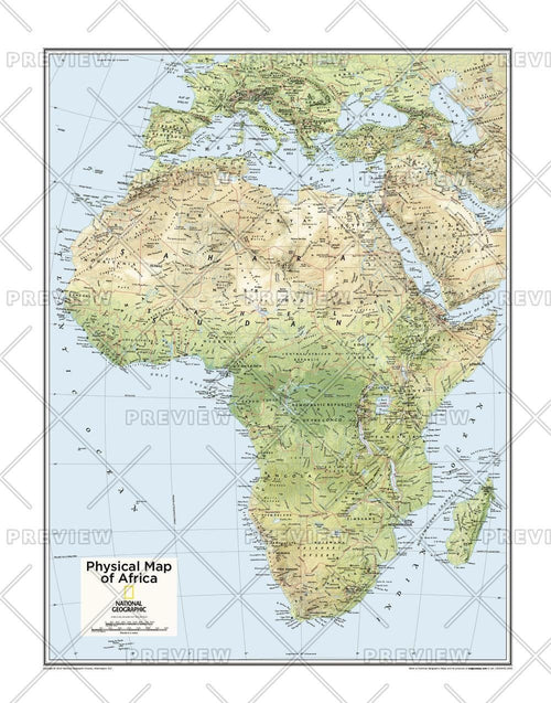 Africa Physical - Atlas of the World, 10th Edition