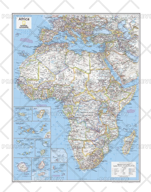 Africa Political - Atlas of the World, 10th Edition