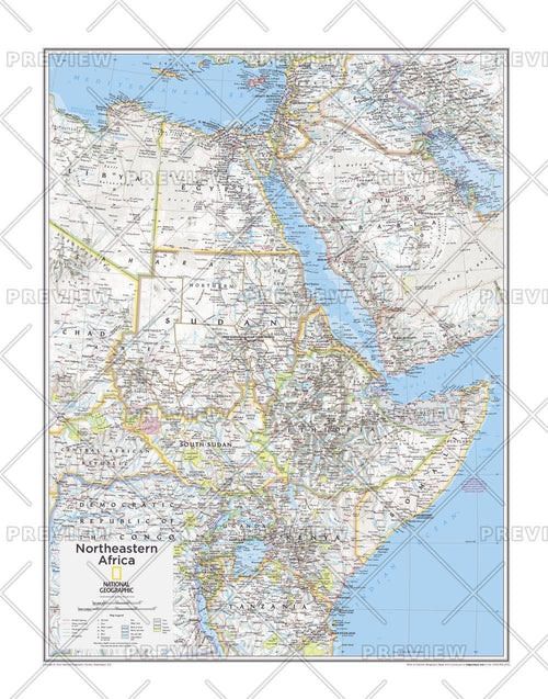 Northeastern Africa - Atlas of the World, 10th Edition