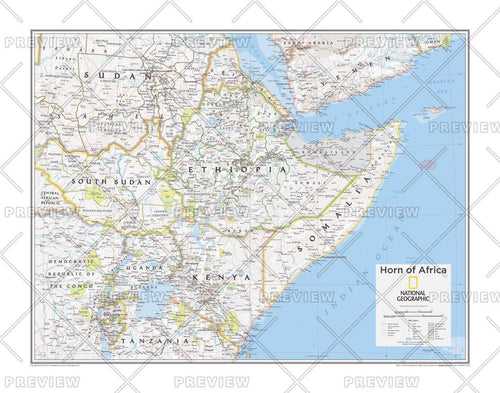 Horn of Africa - Atlas of the World, 10th Edition
