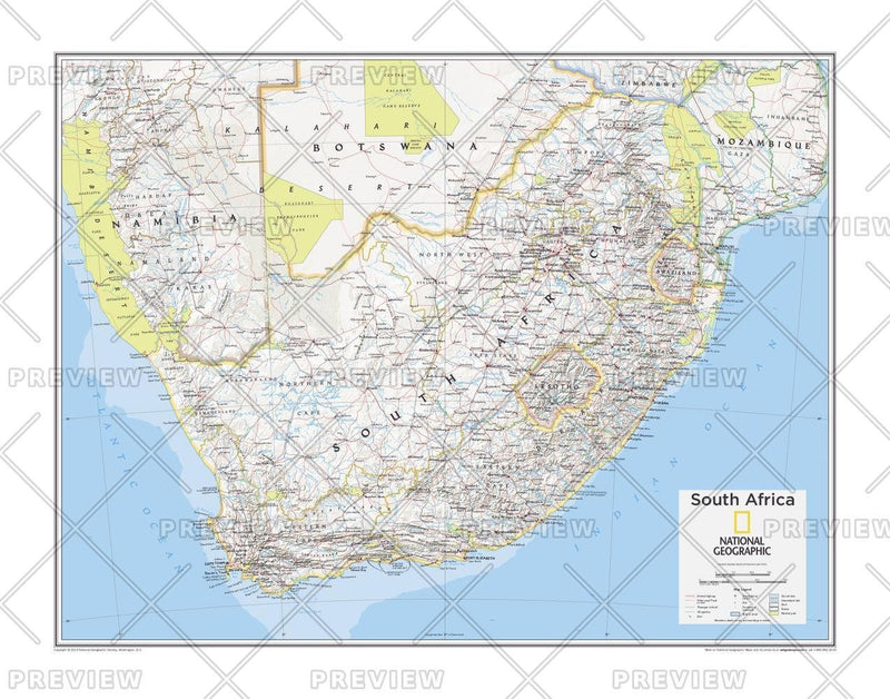 South Africa - Atlas of the World, 10th Edition